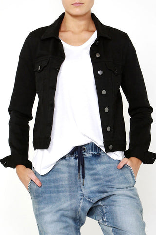 Luxe Stretch Denim Jacket
