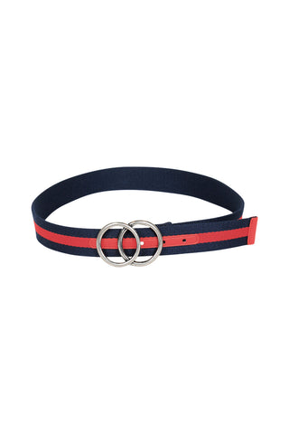 Stripe Double Circle Belt
