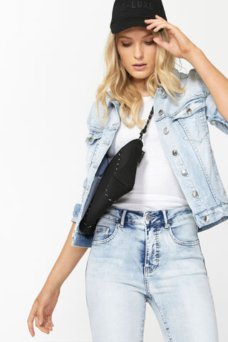 Luxe Distressed Denim Jacket