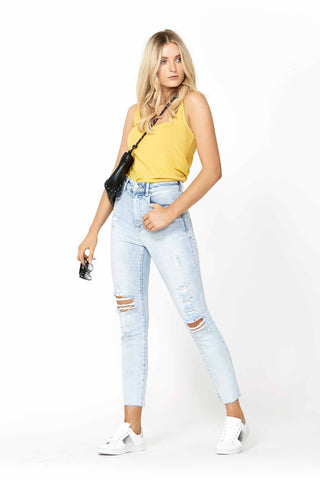 Darcey Highrise Straight Jean