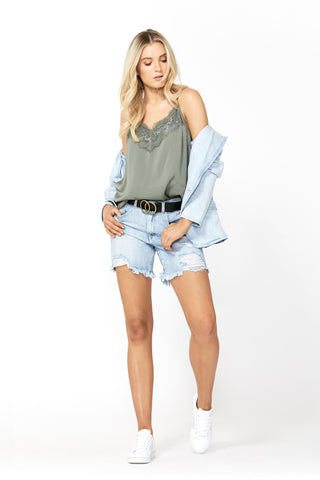 Florence Long Distressed Short