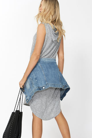 Luxe Sleeveless Hooded Dress
