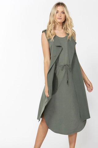 Luxe Drawstring Midi Dress