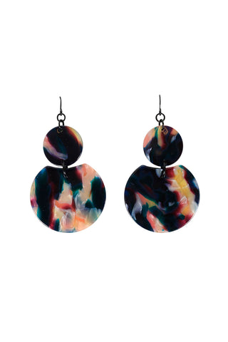 Bianca Resin Circle Earrings