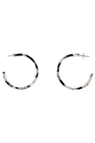Ingrid Plain Tort Hoops
