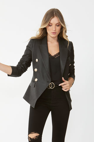 Carly Leather Blazer
