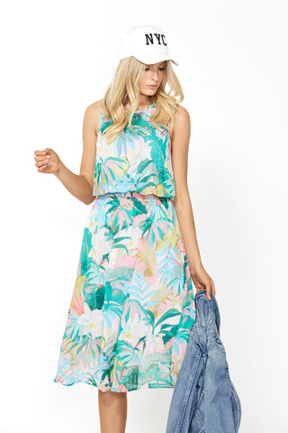 Saskia Sleeveless Midi Dress