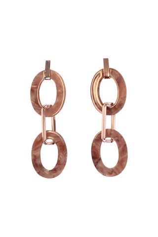 Kacy Resin Oval Bar Earrings