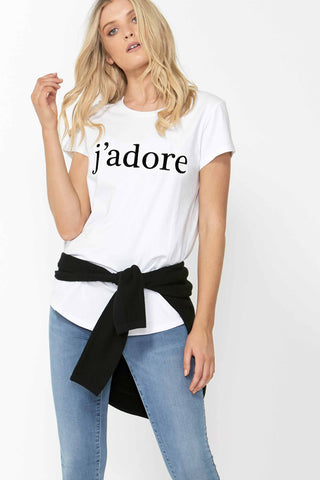 Jádore Embroidered Tee