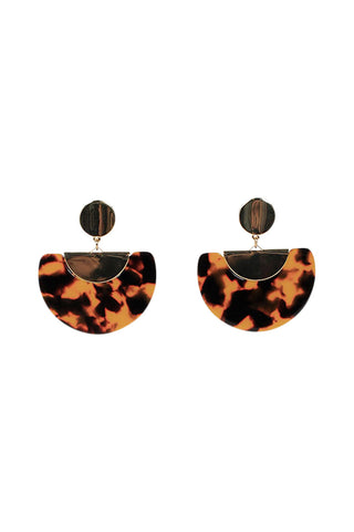 Lucy Resin Half Moon Earrings