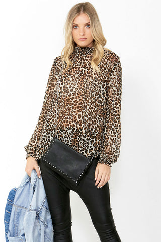 Nicki Shirred Neck Blouse