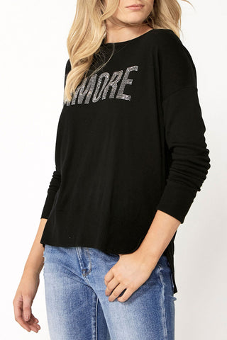 Amore Embellished Text Knit