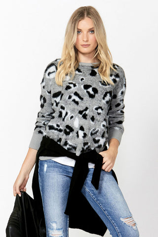 Alice Fluffy Cheetah Pullover