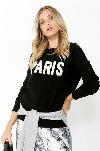 Paris Pearl Text Knit