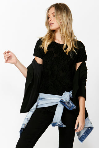 Burnout Lace Tee