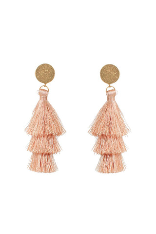 Jaci Triple Tassel Earrings