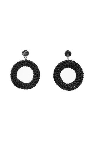 Jenna Woven Hoop Earrings