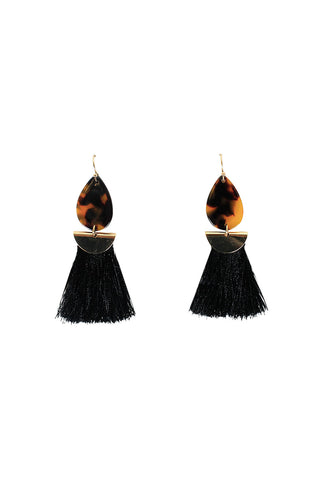 Flo Resin Tassel Earrings