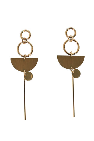 Jen Wooden Drop Earrings