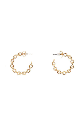 Mia Small Chain Hoops