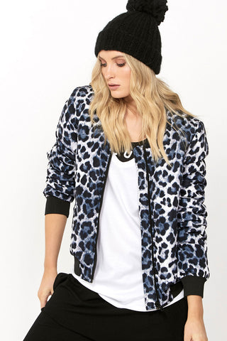 Luxe Printed Bomber