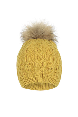 Piper Cable Single Pom Beanie