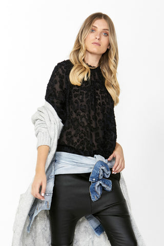 Arabella Animal Burnout Blouse