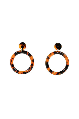 Jae Resin Hoop Stud Earrings