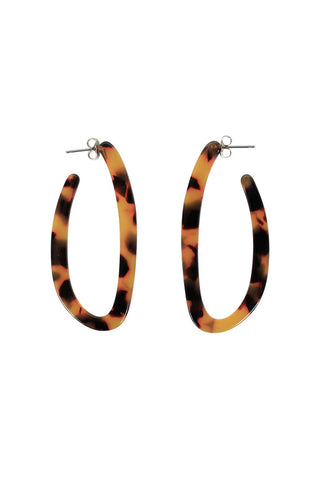 Juila Resin Hoop Earrings