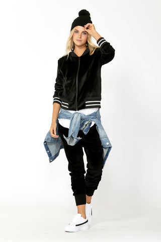 Luxe Velour Cuffed Pant