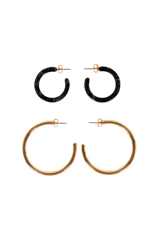Alexis 2 Pack Hoop Earrings
