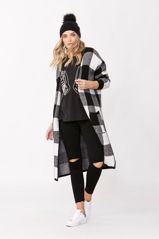 Avery Check Knit Cardigan
