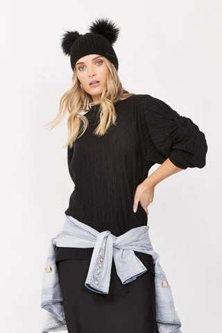 Chelsey Knot Sleeve Top