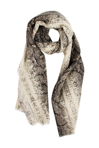 Snake Woven Winter Scarf