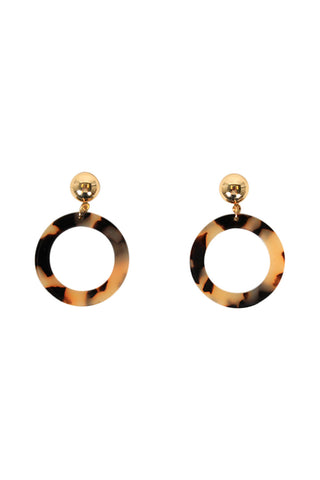 Amber Resin Stud Hoops