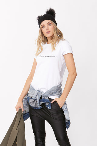 St Germain Embroidered Tee