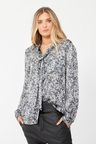 April Tie Front Blouse