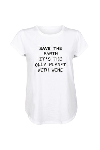 Save the Earth Text Tee