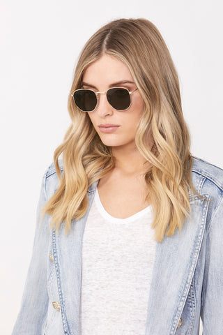 Becky Hexagon Sunglasses