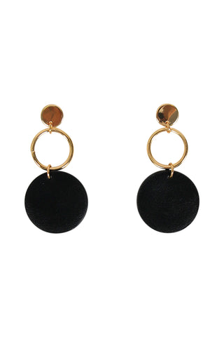 Olivia Circle PU Earrings
