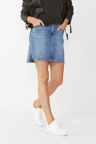 Gina Step Hem Denim Skirt