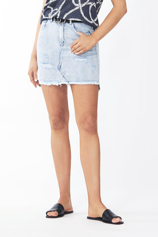 Eden Distressed Mini Skirt