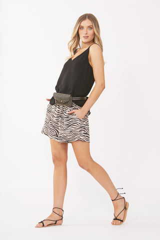 Alex Textured Drawstring Short