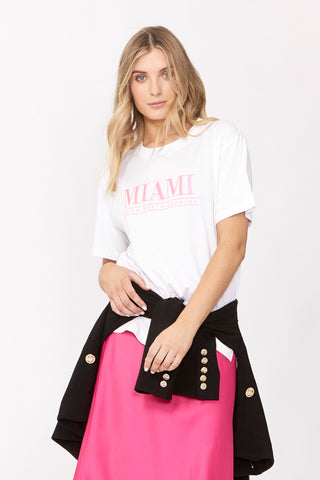 Miami Embroidered Tee