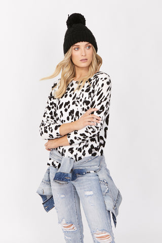 Elle Printed Pullover