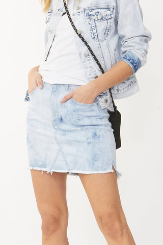 Luxe Tie Dye Denim Skirt