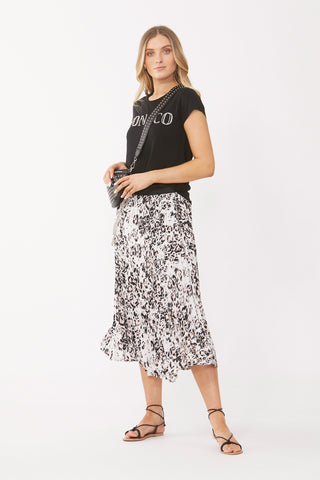 Lilly Pleated Midi Skirt