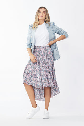 Tilly High Low Ruffle Skirt