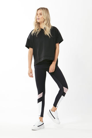 Luxe Active Hooded Cropped Tee