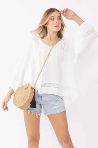 Lottie Lace Insert Blouse
